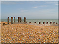TQ6400 : Groyne #91, Eastbourne Beach near Langney Point by David Dixon