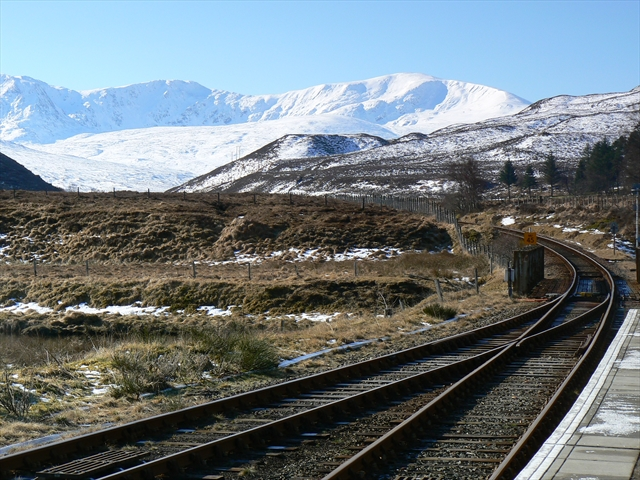 Railway line at Achnasheen