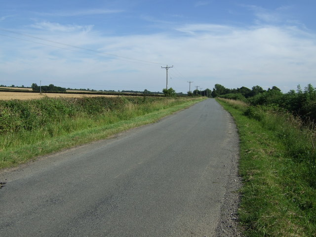 Minor road towards Oasby