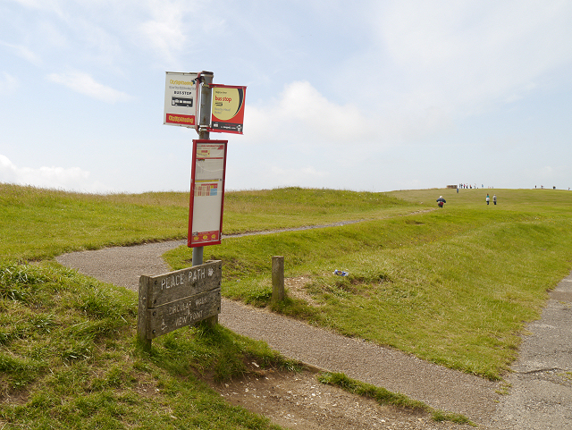 Bus Stop and Peace Path, Beachy Head