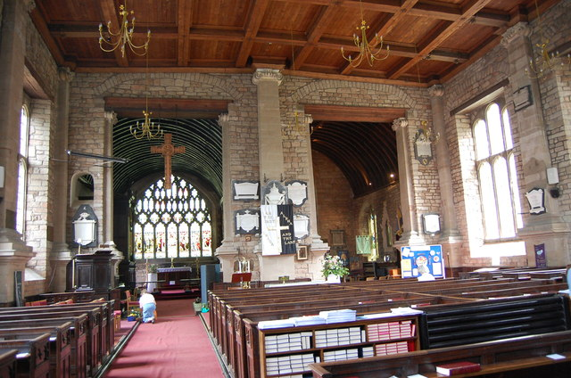 Interior, St Mary's church, Newent