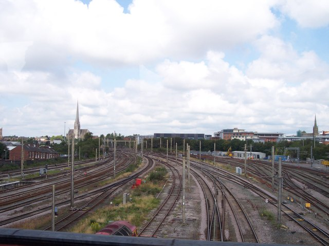 Railway approach to Preston station