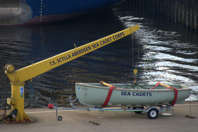 Sea Cadet boat on the Pilot Jetty, Aberdeen
