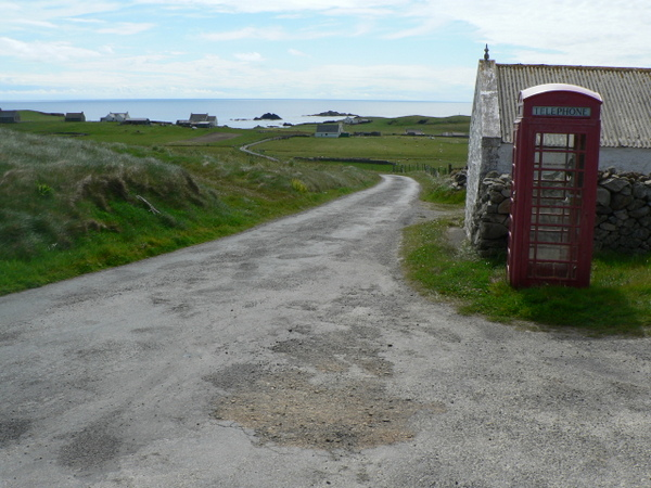 Telephone Kiosk at Shirva Fair Isle