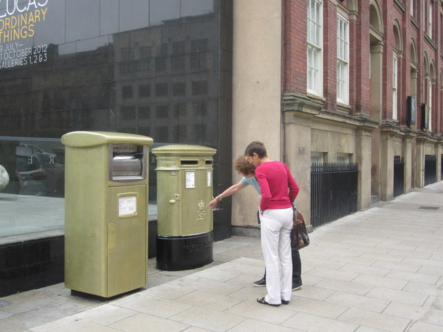 Gold Post Boxes, The Headrow / Cookridge Street, Leeds (4)