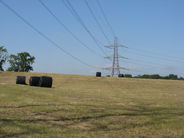 Silage bales at Coxhill Farm