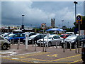 SO8219 : B&amp;Q car park, St. Oswald's, Gloucester by Jonathan Billinger