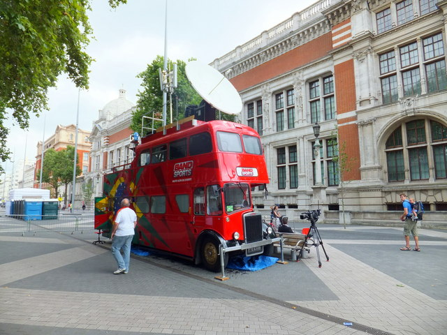 Converted Double Decker Bus in Exhibition Road South Kensington