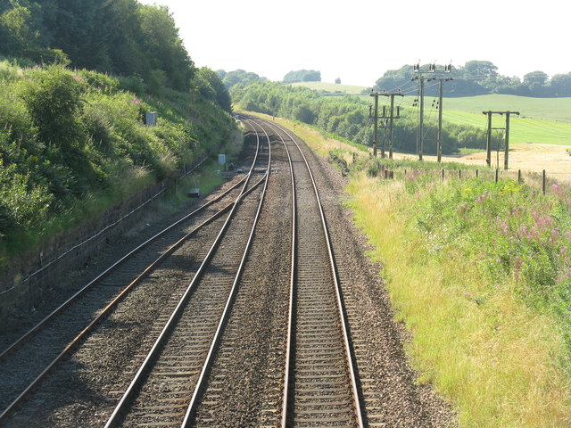 Edinburgh-Glasgow railway at Whitecross