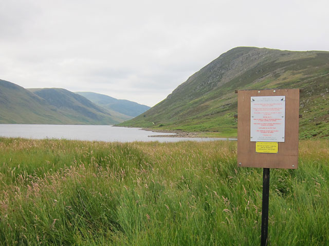 Estate sign at Loch Turret