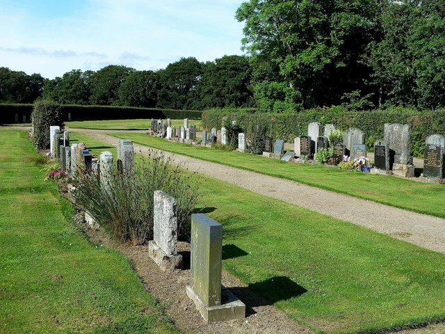 The New Cemetery at Edinkillie