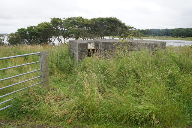 Old pillbox beside the Ythan at Newburgh