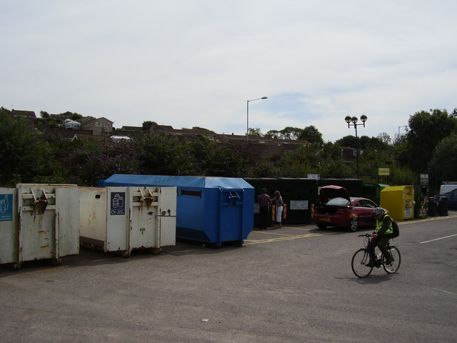 Recycling at Morrisons, Bridport