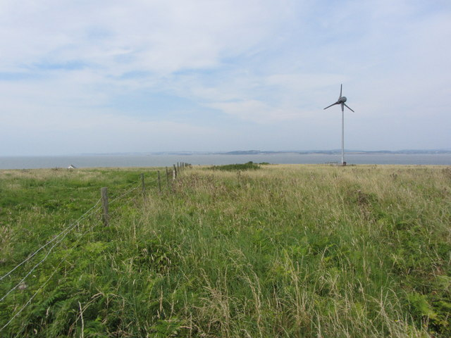 Field and wind turbine, Flat Holm