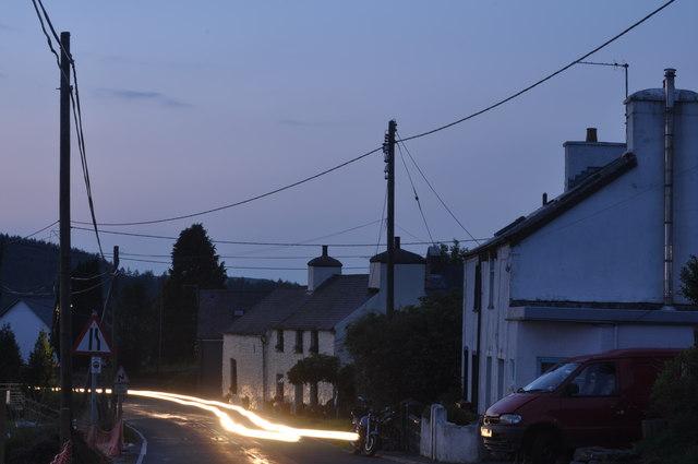 Ysbyty Ystwyth at sunset