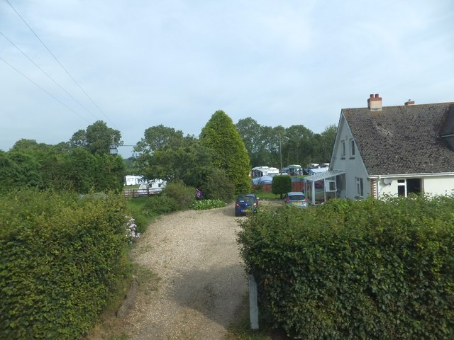 Camping site at Branscombe Cross