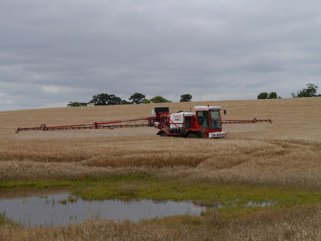 Crop Spraying At Bartlehill