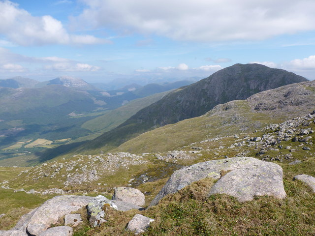 Looking towards Beinn Sgulaird from un-named top west of Meall Garbh