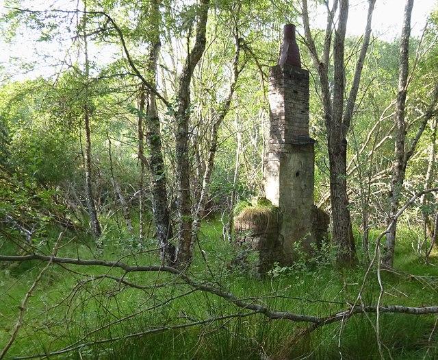 Old chimney, Teanacoil Sawmill