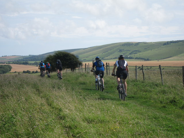 Cyclists on South Downs Way