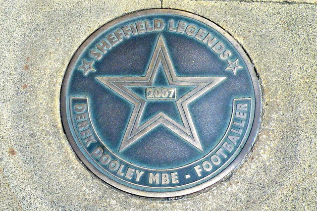 Photo of Derek Dooley bronze plaque