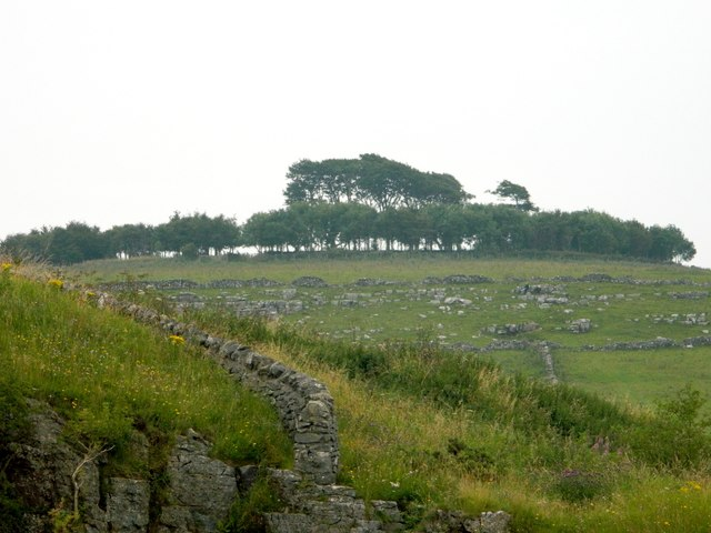 Minninglow Hill and the rockfield on its NW flank