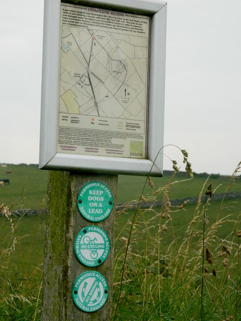 Permissive Path sign to Minninglow Hill