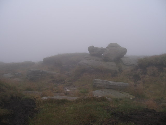 Wain Stones in the clouds