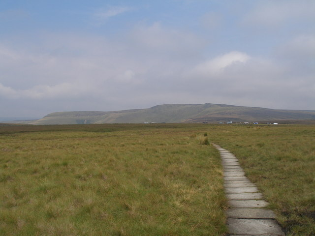 Pennine Way crossing Featherbed Moss