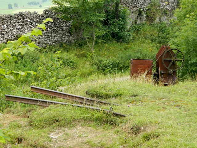 Old track and machinery