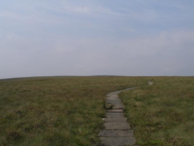 Pennine Way heading for Glead Hill