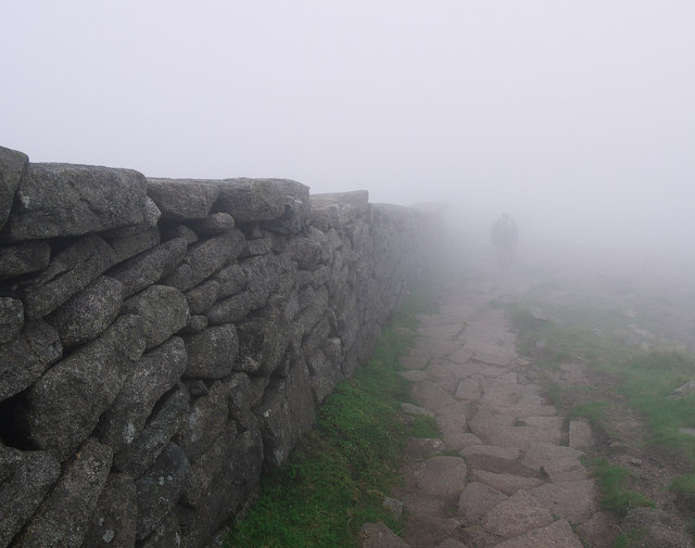 The Mourne Wall on Slieve Donard