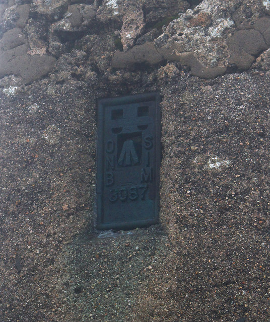 Flush Bracket, Slieve Donard Triangulation Pillar