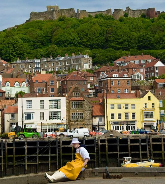 Scarborough fish dock and Castle