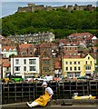 TA0488 : Scarborough fish dock and Castle by Roger May