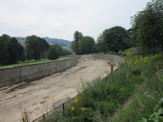 The run off channel at Agden Reservoir