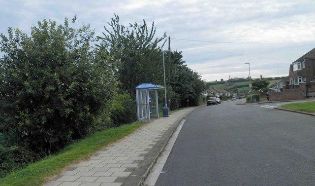 Bus stop on Herringthorpe Lane, Rotherham