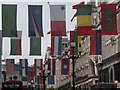 TQ2980 : National Flags Over Regent Street by Colin Smith