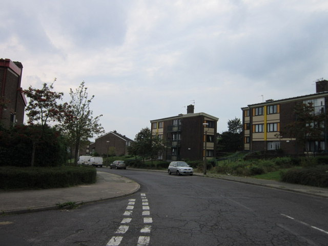 Houses on Fox Hill Crescent, Birley Edge