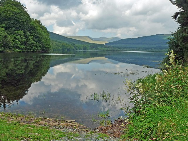 Reflections in the Pentwyn Reservoir