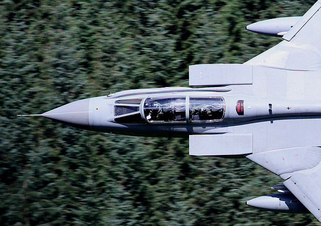 A low flying Tornado jet