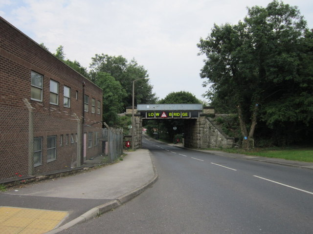 The rail bridge on Ryton Road