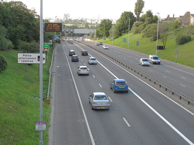 Olympic lane on the A102