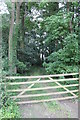 SK9526 : Gated entrance to Pasture Holt by J.Hannan-Briggs
