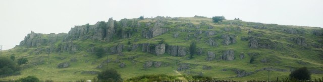 Panorama of Harboro' Rocks