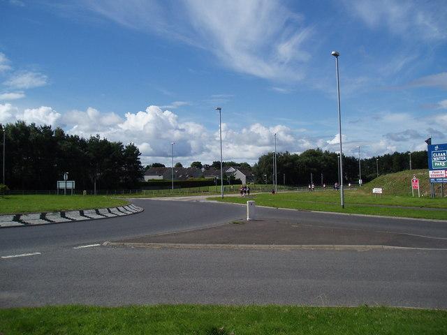 East Balgillo Roundabout and Dundee Marathon and Half Marathon 2012