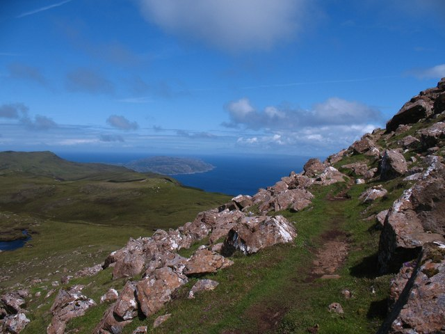 The ascent of Dun Caan