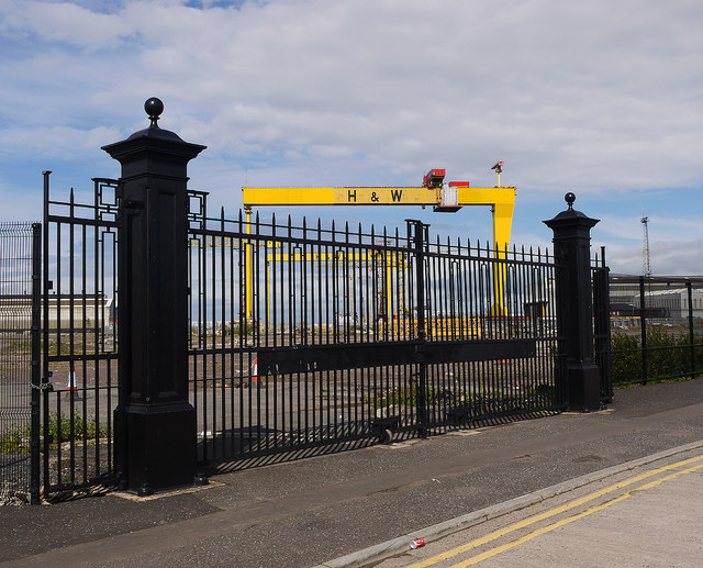 Old shipyard gates, Belfast