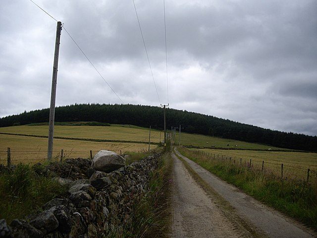 Power lines, track and stone walls all point to one thing