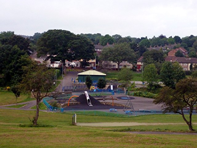 Children's adventure playground in Longley Park